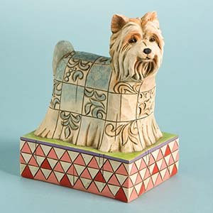 """P.J."" Yorkshire Terrier Figurine – Jim Shore Heartwood Creek 4009745"