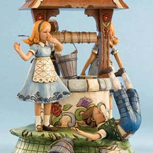"Jack and Jill ""Head over Heels"" Revolving Musical Figurine – Jim Shore Heartwood Creek 4012319"