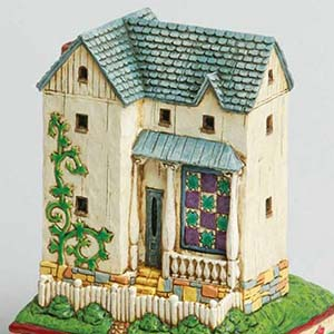 """House With Tulip Base"" Farmhouse Figurine – Jim Shore Heartwood Creek 305"