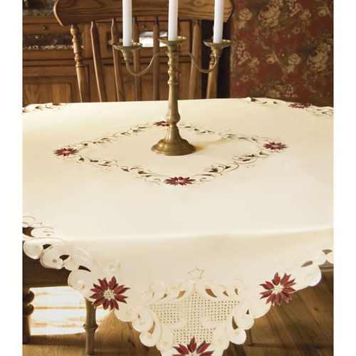 Noel Glow Square Tablecloth- Heritage Lace - Holiday and Winter Collection - NG-5252C
