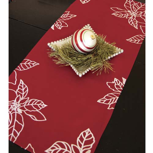 Poinsettia Runner - Heritage Lace - Holiday and Winter Collection - PO-1572R