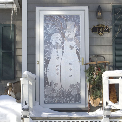 Snow Couple Scenic Panel – Heritage Lace Winter Collection 7105W-3876