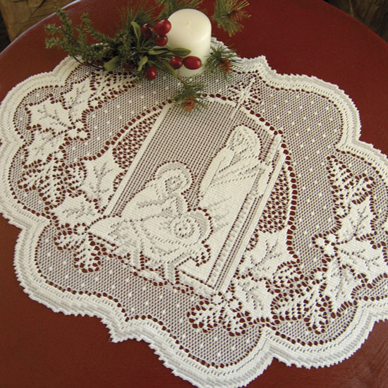 Silent Night Placemat (set of 6) - Heritage Lace Sl-1420W