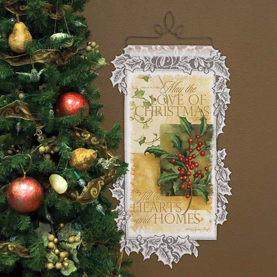Christmas Love - Heritage Lace Christmas Wall Hangings WH68W-0426