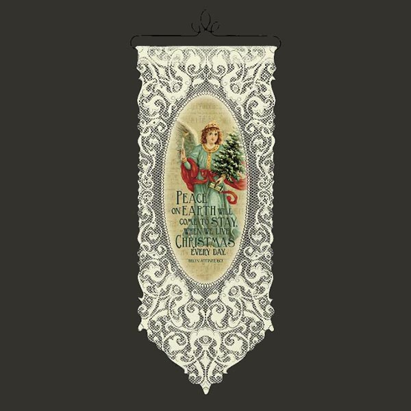 Live Christmas Every Day - Heritage Lace Christmas Wall Hanging WH25E-0503