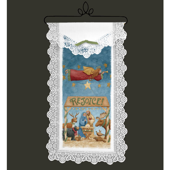Rejoice Nativity - Heritage Lace Christmas Inspirational Wall Hangings WH62W-0620