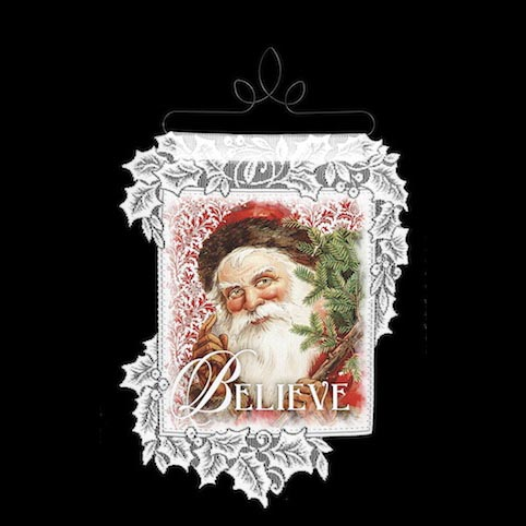 Santa Believe - Heritage Lace Christmas Wall Hangings WH69W-0505