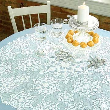 Glisten Table Topper - Heritage Lace GL-3600WG