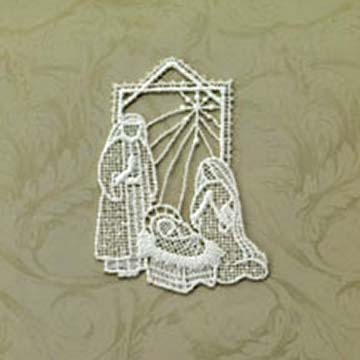 Holy Family Macrame Ornament Set - Heritage Lace OC-025