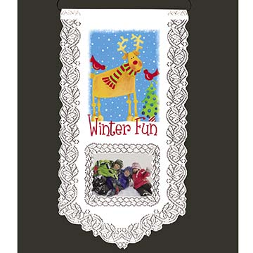 Winter Fun - Heritage Lace Wall Hanging WH33W-0669