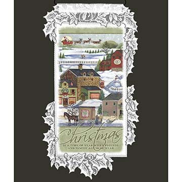 Christmas Is a Time  Heritage Lace Christmas Wall Hanging WH68W-0677