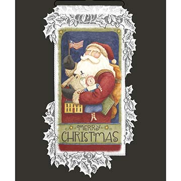 Merry Christmas Santa - Heritage Lace Christmas Wall Hangings WH68W-0692