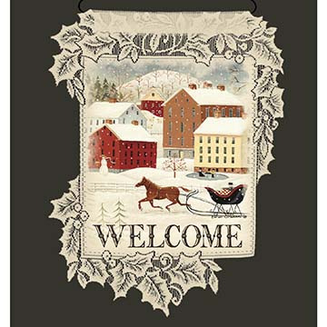 Winter Village Welcome - Heritage Lace Christmas Wall Hangings WH69W-0667