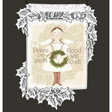 Peace Angel - Heritage Lace Wall Hanging WH69W-0676