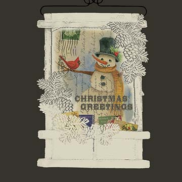 Christmas Greetings Card Holder - Heritage Lace Wall Hangings WH71C-0672