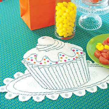 Cupcake Doily with Sprinkles (set of 2) - Heritage Lace Transitional Collection CP2015W-0706