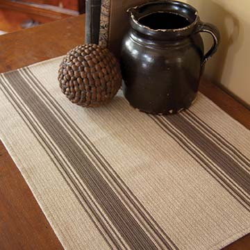 Parchment Stripe Placemat (set of 2) PS-1420DT - RETIRED