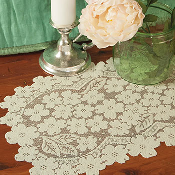 Dogwood Placemat (set of 6) - Heritage Lace DW-1419E, DW-1419W