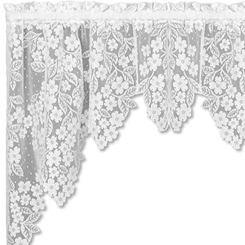 Dogwood Swag Pair - Heritage Lace Romantic Collection 8510ES-38PR, 8510WS-38PR