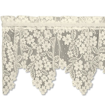 Dogwood Valance - Heritage Lace Romantic Collection 8510E-5518, 8510W-5518