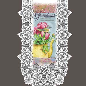 Grandmas are the Blossoms – Heritage Lace Family Wall Hangings WH21W-0709