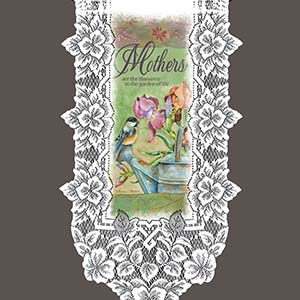 Mothers are the Blossoms - Heritage Lace Family Wall Hangings WH21W-0710