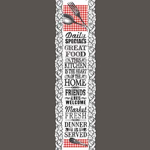 Kitchen Words - Heritage Lace Hearth & Home Wall Hangings WH26W-0717