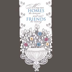 May Our Homes - Heritage Lace Hearth & Home Wall Hangings WH42W-0741