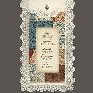 Live Simply - Heritage Lace Love Wall Hangings WH62E-0713