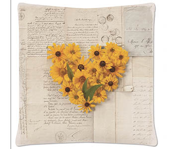 Daisy Pillow 18x18