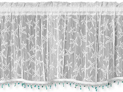 Starfish Valance with Trim - Heritage Lace 7255W-4515HT