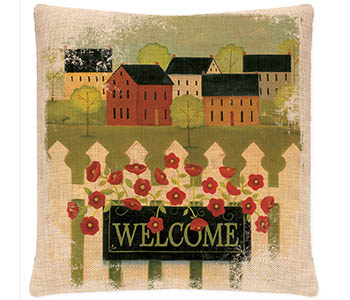 Welcome Pillow 18x18