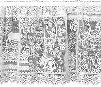 Woodland Patch Valance - Heritage Lace 6380C-6015, 6380W-6015