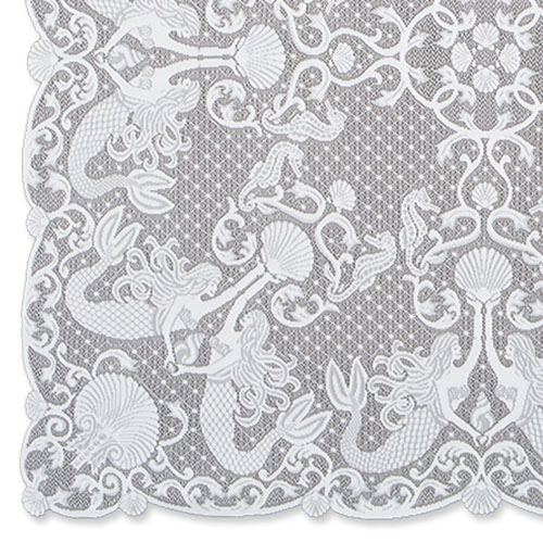 Mermaids Table Topper - Heritage Lace MM-4242W