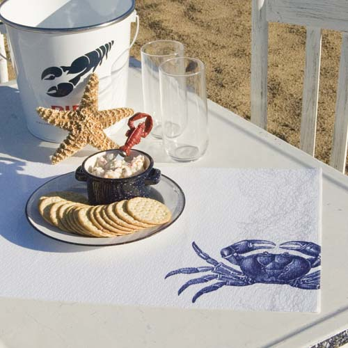 Blue Crab Placemat - Heritage Lace - Beach Cottage Collection PE1319W-0444