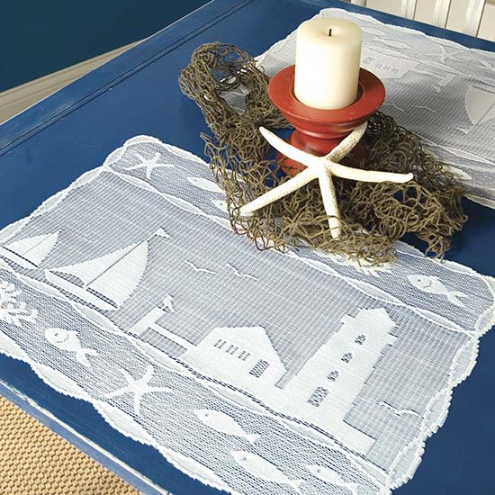 Harbor Lights Placemat – Heritage Lace – Coastal Collection – HAR-1419W
