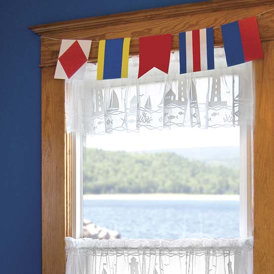 Harbor Lights Valance - Heritage Lace Coastal Collection - 6335W-6012