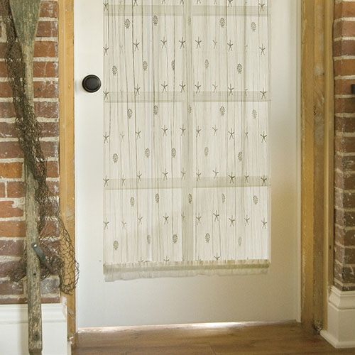 Sand Shell 45″ x 63″ Door Panel – Heritage Lace – Coastal Collection – 7175E-4563DP, 7175W-4563DP
