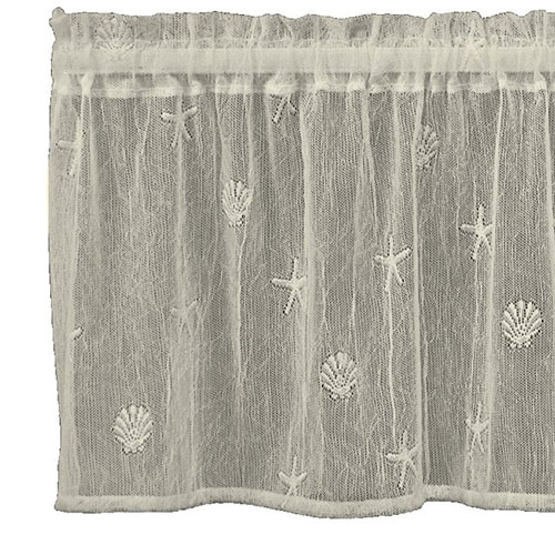 Sand Shell Valance - Heritage Lace Coastal Collection 7175E-4515, 7175W-4515