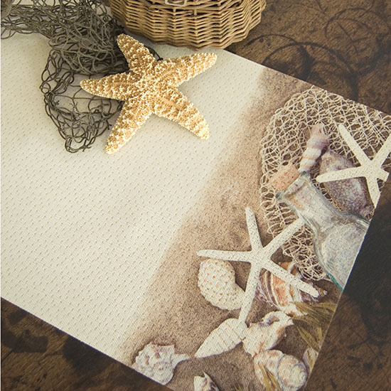 Sandscape Placemat (set of 2) - Heritage Lace Coastal Collection BA1319NA-0543