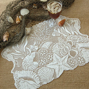 Seascape Placemat (set of 2) - Heritage Lace SS-1420W