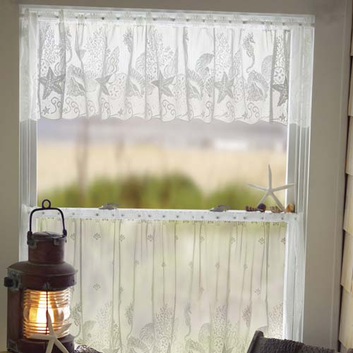 Seascape Valance - Heritage Lace Coastal Collection 6155W-6014, 6155E-6014