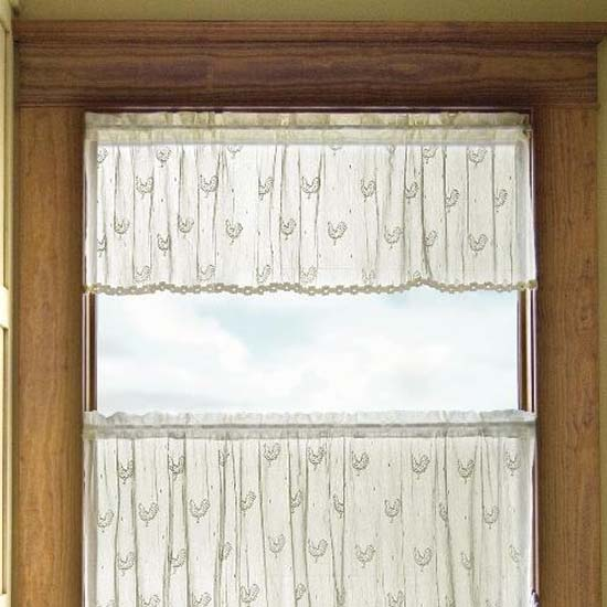 Country Rooster Valance - Heritage Lace Country Collection 7180E-4515HT