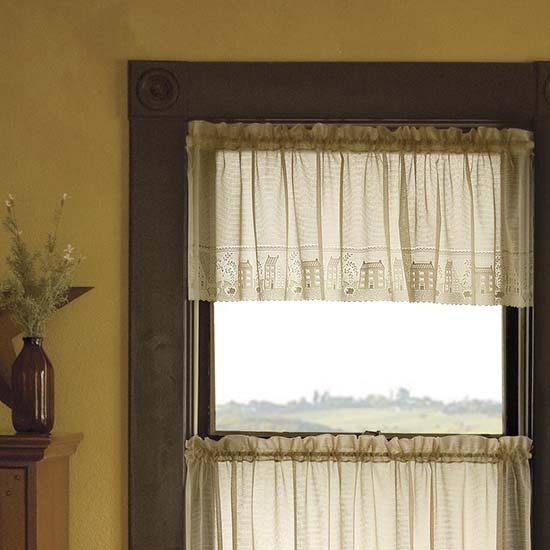 Country Willow Valance - Heritage Lace - Country Collection - 6330C-6017, 6330W-6017