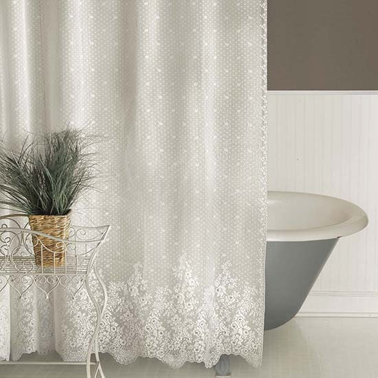 floret shower curtain heritage lace 6290e oc 6290w oc