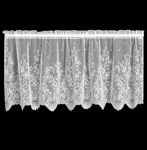 Floret 60″ x 36″ Tier – Heritage Lace – Romantic Collection – 6290E-6036, 6290W-6036