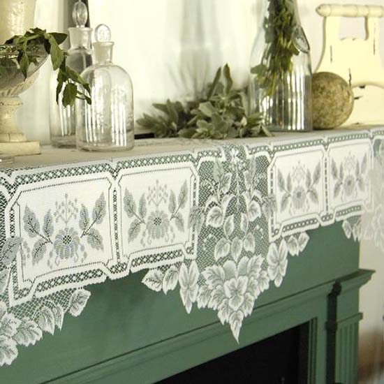 Heirloom Mantle Scarf - Heritage Lace - Day in the Country Collection - HL-2091MSE, HL-2091MSW