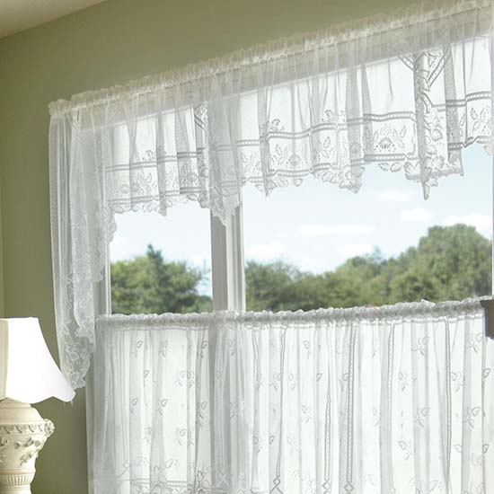 Heirloom Swag Pair (Sheer) 70x45