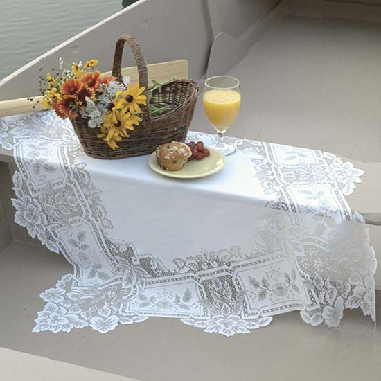 Heirloom Table Topper- Heritage Lace - Day in the Country Collection - HL-3600E, HL-3600W