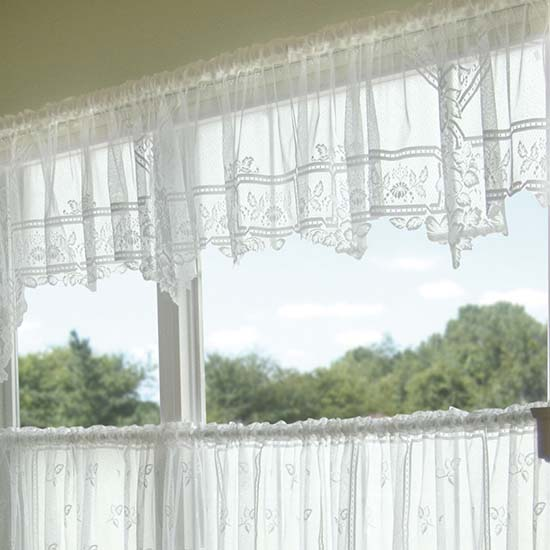 Heirloom Valance (Sheer) - Heritage Lace - Country Collection - 9700E-6022P, 9700W-6022P